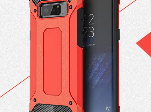 GSMWise Samsung Galaxy Note 8 - Stevig Hybrid Beschermhoesje Back Case Shockproof - Rood