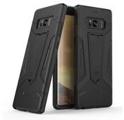 GSMWise Samsung Galaxy Note 8 - Stevig Backcover Hybride Beschermhoesje Met Stand - Zwart