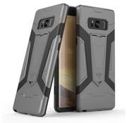 GSMWise Samsung Galaxy Note 8 - Stevig Backcover Hybride Beschermhoesje Met Stand - Grijs