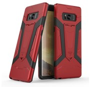 GSMWise Samsung Galaxy Note 8 - Stevig Backcover Hybride Beschermhoesje Met Stand - Rood
