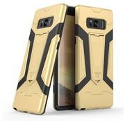 GSMWise Samsung Galaxy Note 8 - Stevig Backcover Hybride Beschermhoesje Met Stand - Goud