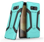 GSMWise Samsung Galaxy Note 8 - Stevig Backcover Hybride Beschermhoesje Met Stand - Cyaan Turquoise