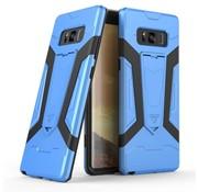 GSMWise Samsung Galaxy Note 8 - Stevig Backcover Hybride Beschermhoesje Met Stand - Blauw