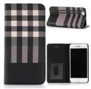 GSMWise Apple iPhone 7 / 8 - Plaid design Portemonnee Hoesje - Geel / Zwart