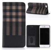 GSMWise Apple iPhone 7 / 8 - Plaid design Portemonnee Hoesje - Bruin / Zwart