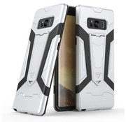 GSMWise Samsung Galaxy Note 8 - Stevig Backcover Hybride Beschermhoesje Met Stand - Zilver