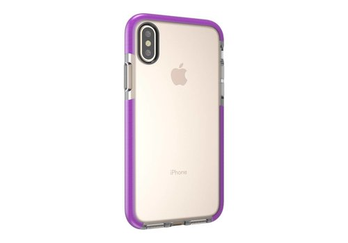 Apple iPhone X - Transparant TPU Hoesje Back Case - Transparant / Paars
