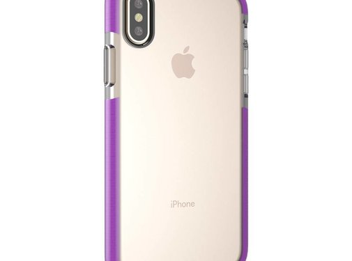 GSMWise Apple iPhone X - Transparant TPU Hoesje Back Case - Transparant / Paars