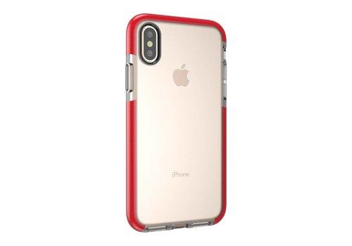 Apple iPhone X - Transparant TPU Hoesje Back Case - Transparant / Rood