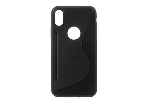Apple iPhone X - S-Line Flexibel TPU Hoesje Back Case - Zwart