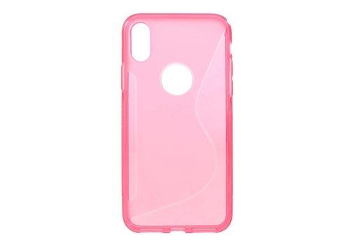 Apple iPhone X - S-Line Flexibel TPU Hoesje Back Case - Roze