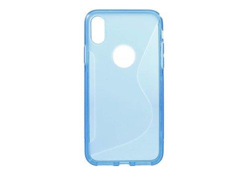 Apple iPhone X - S-Line Flexibel TPU Hoesje Back Case - Blauw