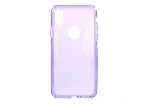 Apple iPhone X - S-Line Flexibel TPU Hoesje Back Case - Paars