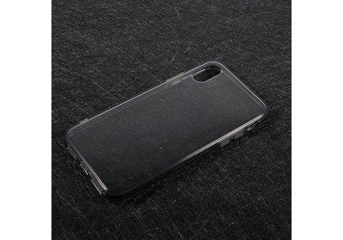 Apple iPhone X - Transparante TPU Back Case - Grijs