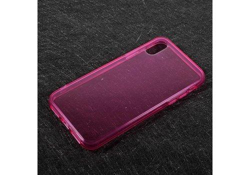 Apple iPhone X - Transparante TPU Back Case - Roze