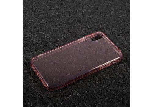 Apple iPhone X - Transparante TPU Back Case - Rose