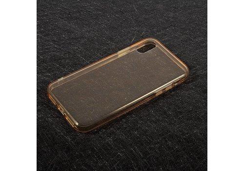 Apple iPhone X - Transparante TPU Back Case - Goud