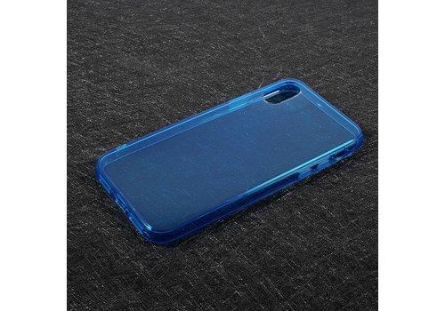 Apple iPhone X - Transparante TPU Back Case - Blauw