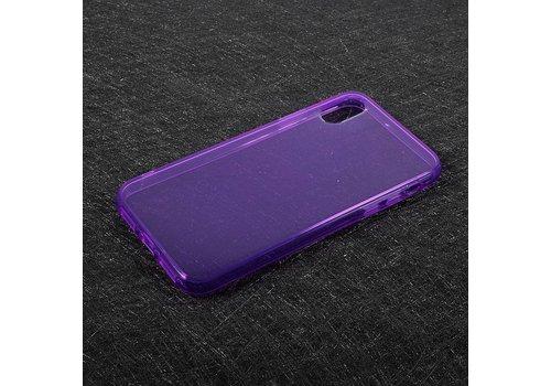 Apple iPhone X - Transparante TPU Back Case - Paars