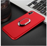 GSMWise Apple iPhone X - Matte TPU Ringhouder Back Case - Rood