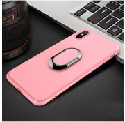 GSMWise Apple iPhone X - Matte TPU Ringhouder Back Case - Roze