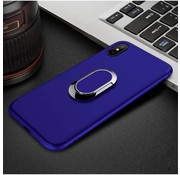 GSMWise Apple iPhone X - Matte TPU Ringhouder Back Case - Blauw