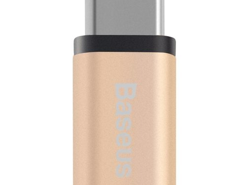 GSMWise BASEUS - Micro USB naar USB-C Converter - Goud