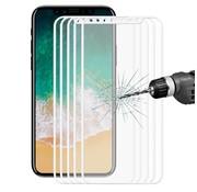 GSMWise Apple iPhone X - Volledige dekkende Tempered Glazen Screenprotector - Wit