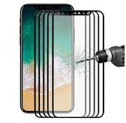 GSMWise Apple iPhone X - Volledige dekkende Tempered Glazen Screenprotector - Zwart