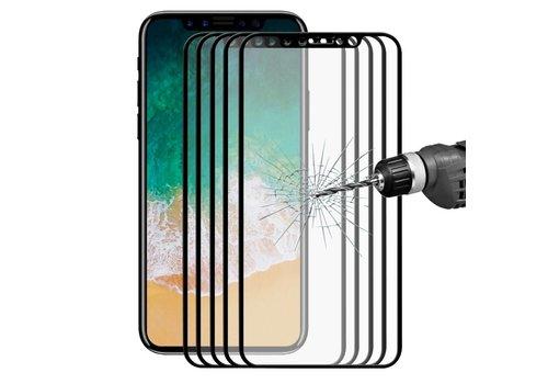 Apple iPhone X - Volledige dekkende Tempered Glazen Screenprotector - Zwart