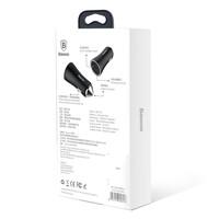 Baseus - Autolader met 2 USB Ingangen - Zilver