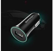 GSMWise Usams - Autolader met USB Ingang - Zwart