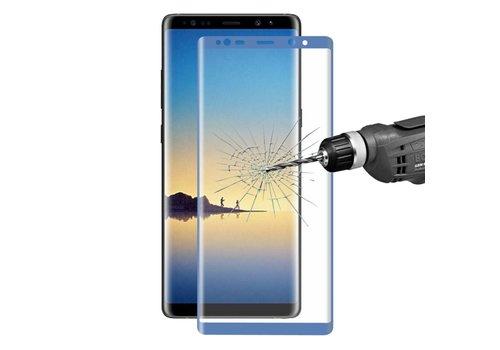 Samsung Galaxy Note 8 - Volledige dekkende Tempered Glazen Screenprotector - Blauw