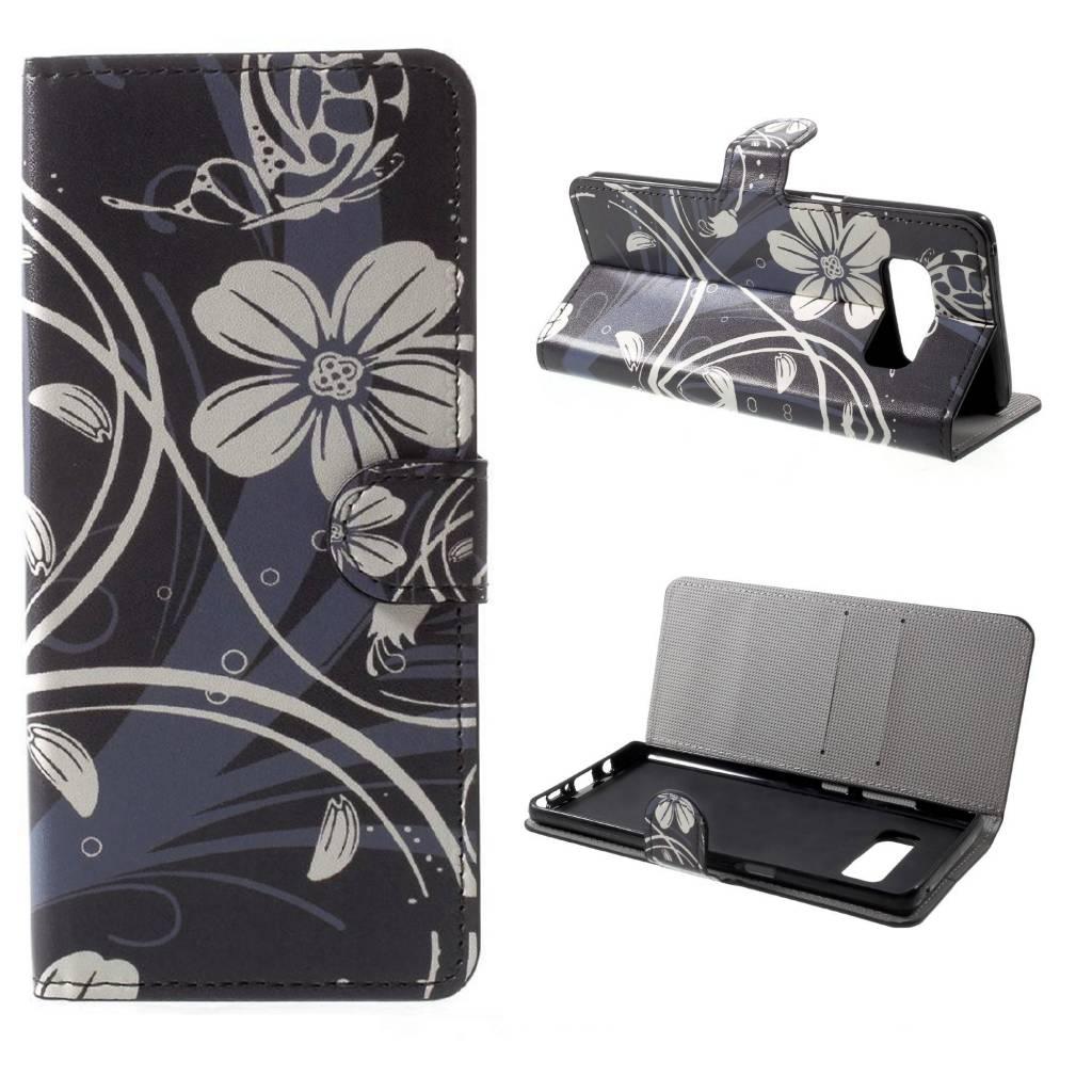 Witte Leren Portemonnee.Gsmwise Samsung Galaxy Note 8 Pu Lederen Portemonnee Case Met
