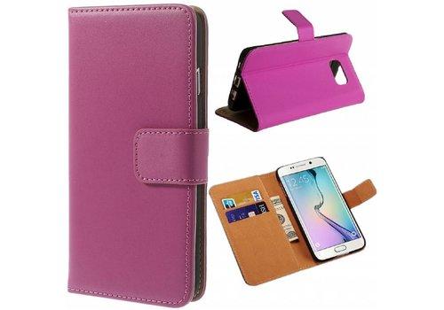 Samsung Galaxy S6 Hoesje - Wallet Case Business - Hot Pink