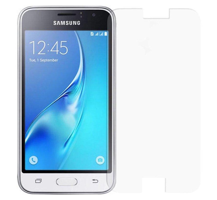 Samsung Galaxy J1 (2016) - Display Tempered Glass Screenprotector - Krasbestendige Glazen Screen Protector - Merk GSMWise