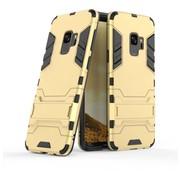 GSMWise Samsung Galaxy S9 - Ultra Hybride Hard Case met standaard - Goud