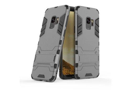 Samsung Galaxy S9 - Ultra Hybride Hard Case met standaard - Grijs