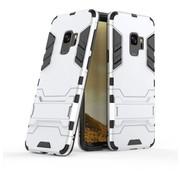 GSMWise Samsung Galaxy S9 - Ultra Hybride Hard Case met standaard - Zilver
