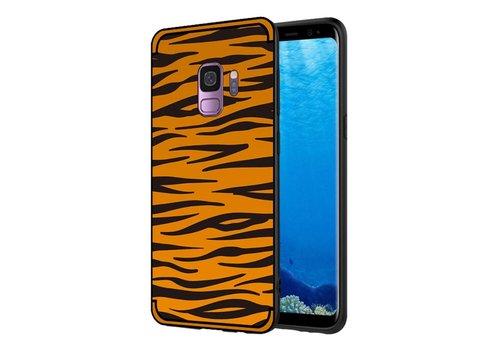 Samsung Galaxy S9 - Soft TPU Backcase hoes met Zebra strepen - Bruin