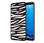 GSMWise Samsung Galaxy S9 - Soft TPU Backcase hoes met Zebra strepen - Zwart / Wit