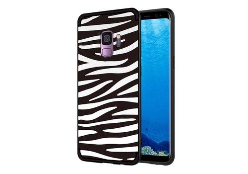 Samsung Galaxy S9 - Soft TPU Backcase hoes met Zebra strepen - Zwart / Wit