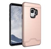 GSMWise Samsung Galaxy S9 - Stevig Beschermhoesje Hardcase Backcover Shockproof - Rose Goud