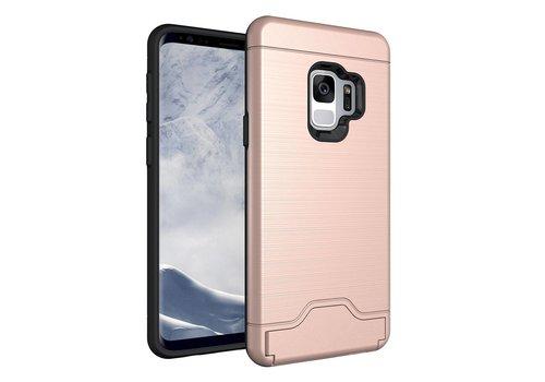 Samsung Galaxy S9 - Stevig Beschermhoesje Hardcase Backcover Shockproof - Rose Goud