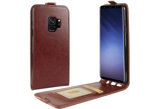 Samsung Galaxy S9 - PU lederen Flip Hoesje Case met Kaarthouder en Fotohouder - Bruin