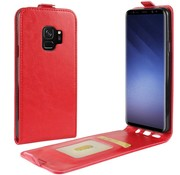 GSMWise Samsung Galaxy S9 - PU lederen Flip Hoesje Case met Kaarthouder en Fotohouder - Rood