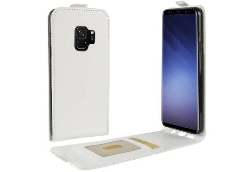 Samsung Galaxy S9 - PU lederen Flip Hoesje Case met Kaarthouder en Fotohouder - Wit