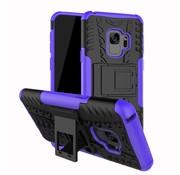 GSMWise Samsung Galaxy S9 - Stevig Hybride Backcover Hoesje Shockproof met Standaard - Paars