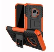 GSMWise Samsung Galaxy S9 - Stevig Hybride Backcover Hoesje Shockproof met Standaard - Oranje