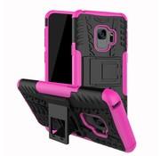 GSMWise Samsung Galaxy S9 - Stevig Hybride Backcover Hoesje Shockproof met Standaard - Roze